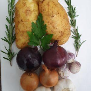 Erdäpfel & Zwiebel